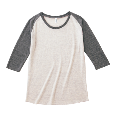 TRUSS 4.4oz トライブレンドラグラン 七分袖Tシャツ(レディース)