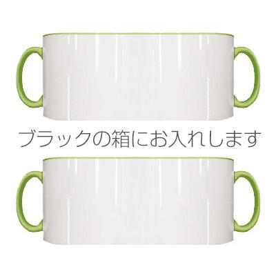 2トーン ペアマグカップ ブラックギフトボックス(ライトグリーン)
