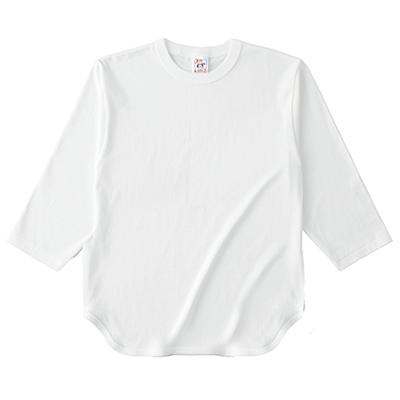 Cross Stitch 6.2oz オープンエンド ベースボール 七分袖Tシャツ