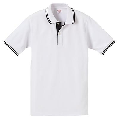 United Athle 6.2oz ドライCVCハイブリッドラインポロシャツ
