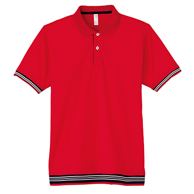 LIFEMAX 裾ラインリブポロシャツ(レディース)