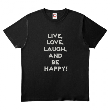 【無料テンプレート】箔 Live, Love, Laugh and be Happy!