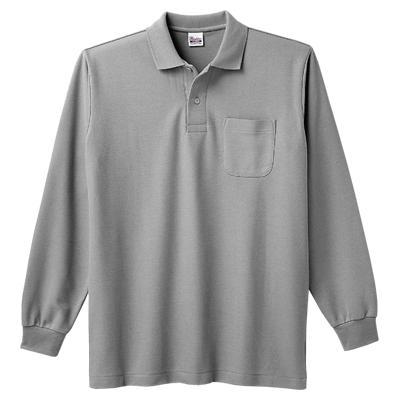Printstar 5.8oz 長袖ポロシャツ(ポケット付)