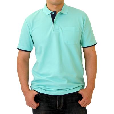 Printstar 5.8oz 重ね着風ポロシャツ(ポケット付)