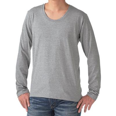 TRUSS 4.3oz スリムフィット Uネック長袖Tシャツ