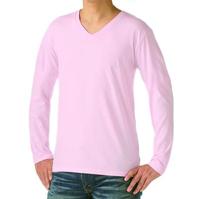 TRUSS 4.3oz スリムフィット Vネック長袖Tシャツ