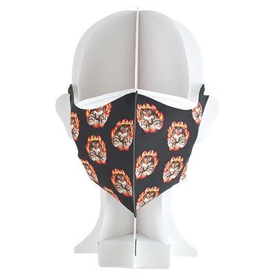 プリント立体マスク「火の輪虎」