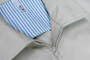 850-DZの襟元