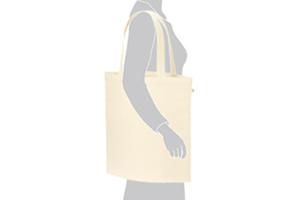 厚手コットンバッグ(L) のサイズイメージ