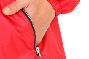 033-ACのジッパー付きポケット