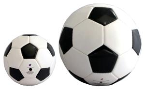記念サッカーボールのサイズ比較