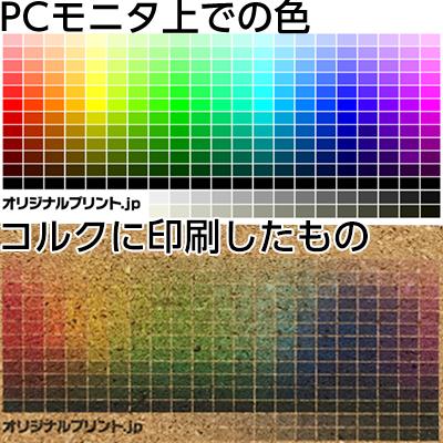 UV硬化インクジェットプリント色見本
