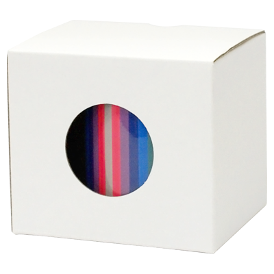 包装オプション:カラーボックス(ホワイト/穴あき) マグの柄が見える!