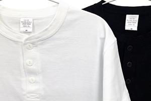 Tシャツ生地&太めプラケットで爽やかなカジュアル感あり
