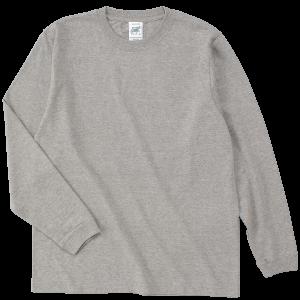 オープンエンド糸使用の定番長袖Tシャツ