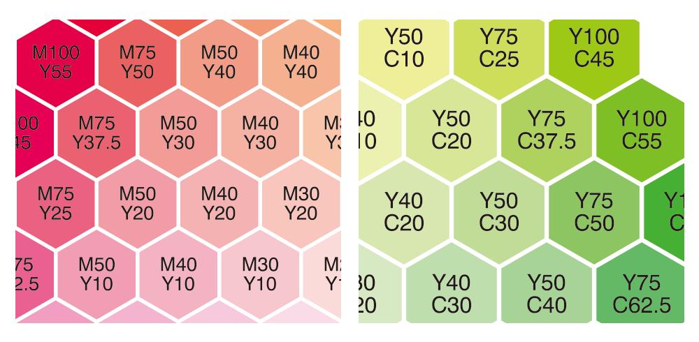 実際のデータの色