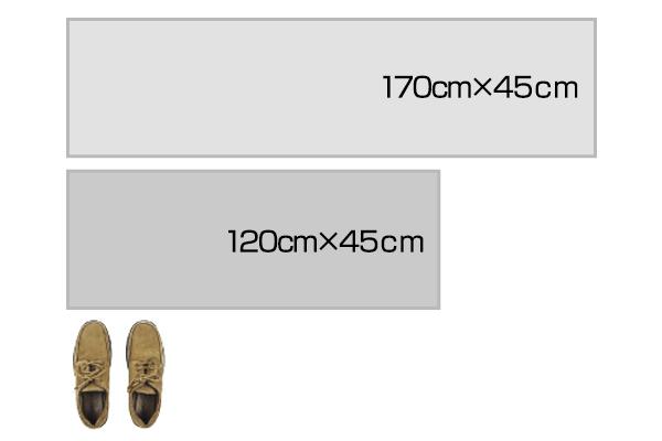 キッチンマットのサイズイメージです