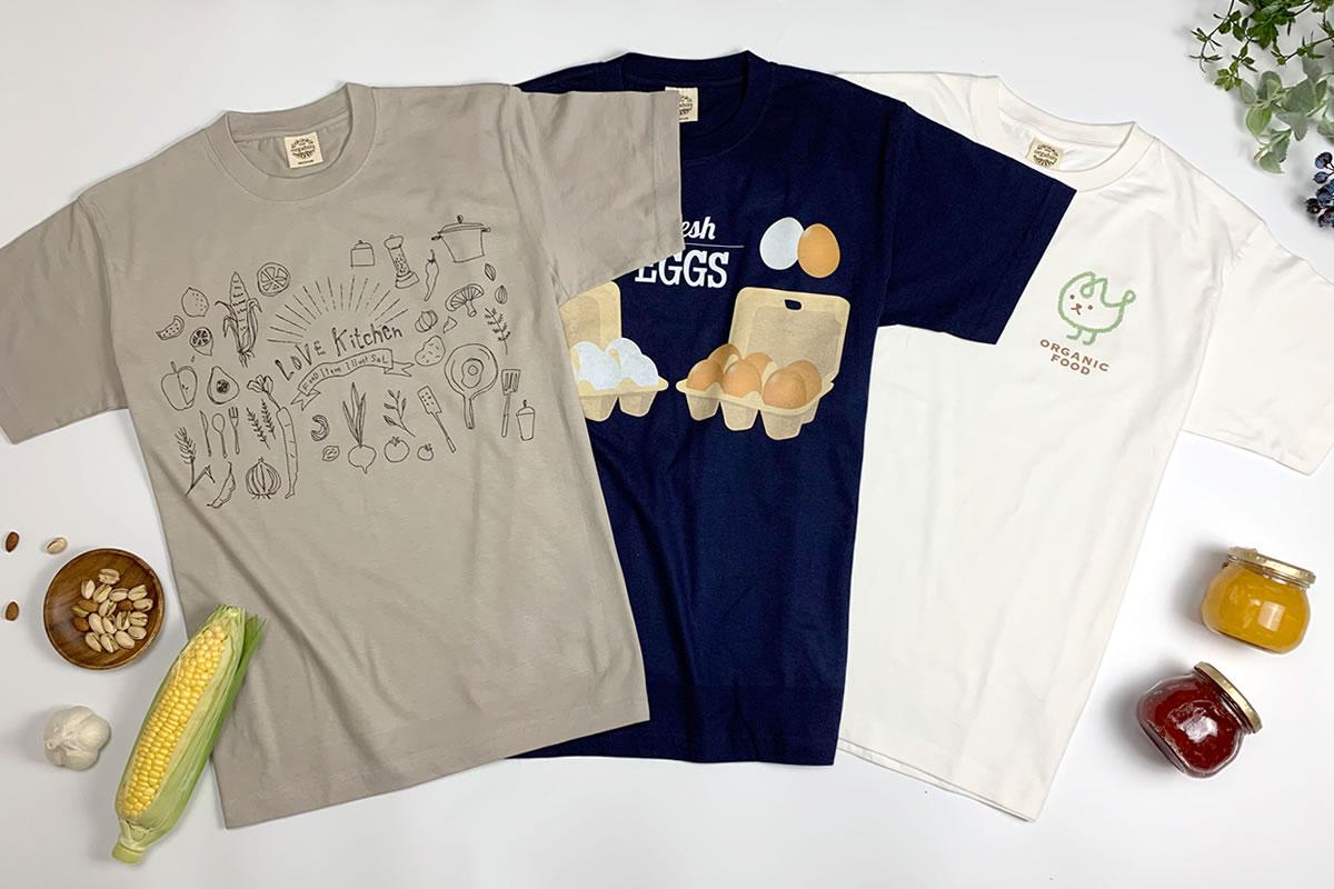 オーガニックコットンTシャツデザイン例