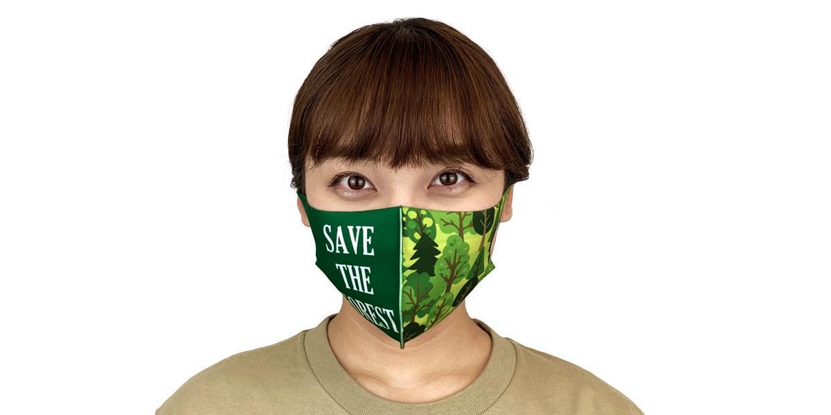 全面フルカラー!オリジナルチームマスクで団結力アップ!