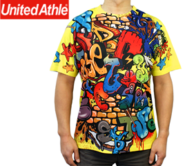 United Athle 4.1ozオールオーバー Tシャツ