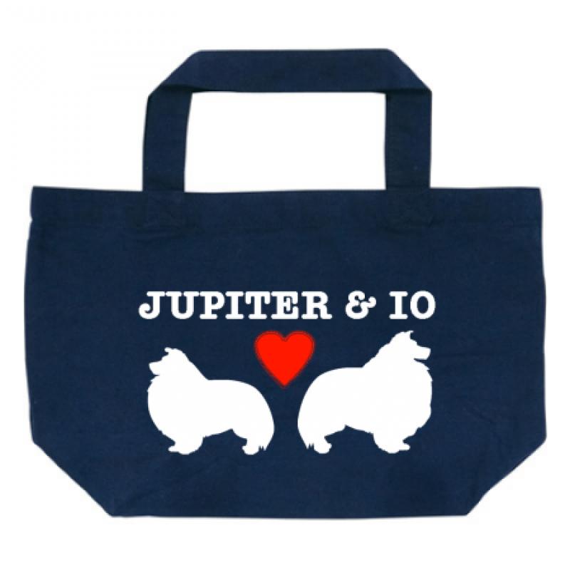 お散歩バッグにちょうどいい!愛犬シルエットのトートバッグ