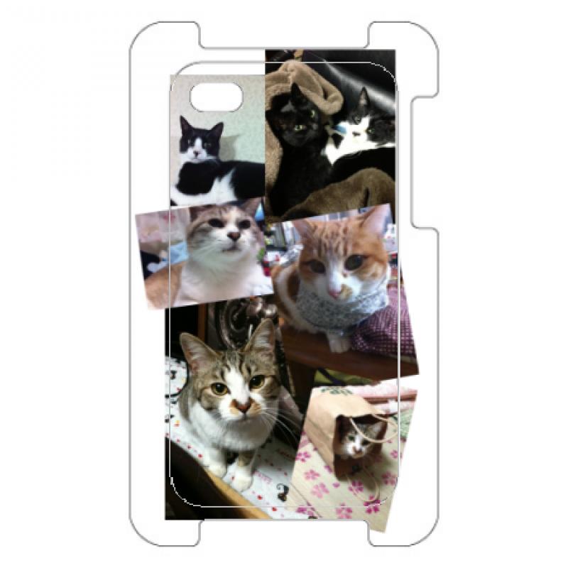 猫まみれのオリジナルiPhoneケース