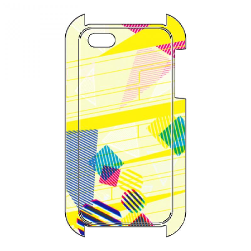 ポップな幾何学模様のオリジナルiPhoneケース