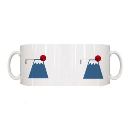 富士山に日が昇るおしゃれなオリジナルマグカップ