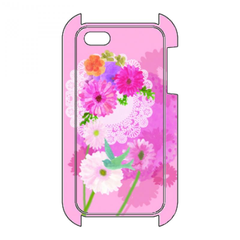 ピンクが華やかな花柄オリジナルiPhoneケース