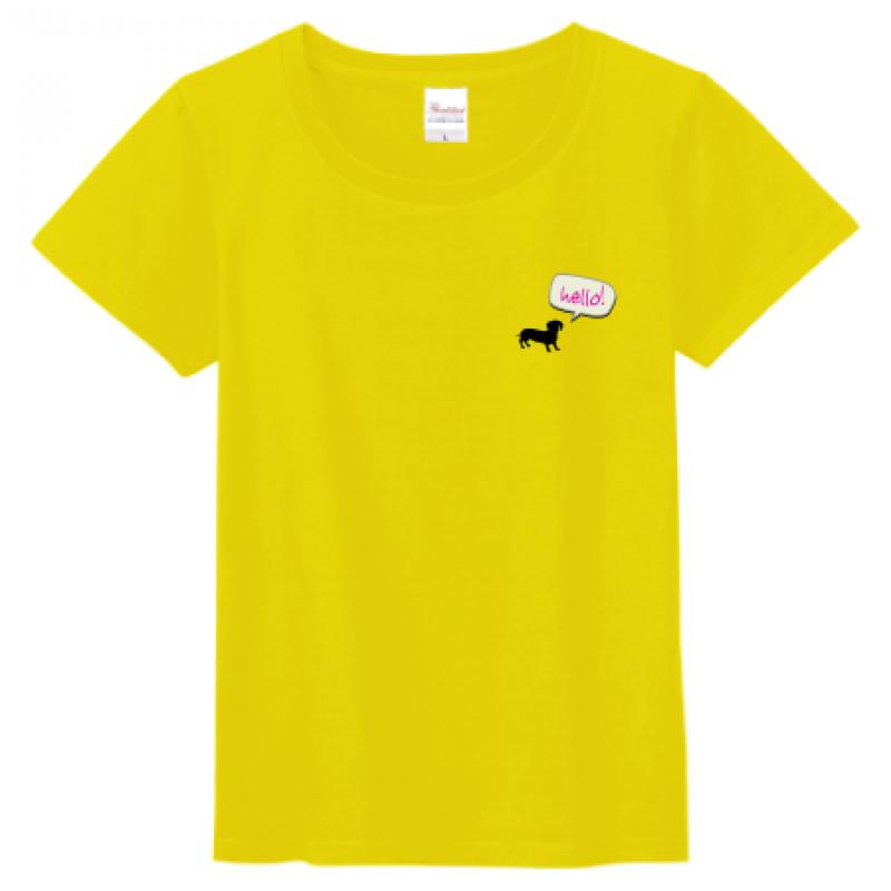 ワンポイントデザインをプリントしたレディースTシャツ