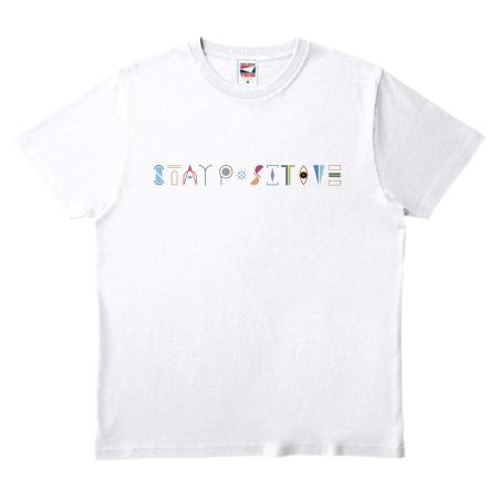 シンプルでおしゃれな文字デザインのオリジナルTシャツ