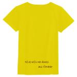 裾にメッセージをプリントしたレディースTシャツ
