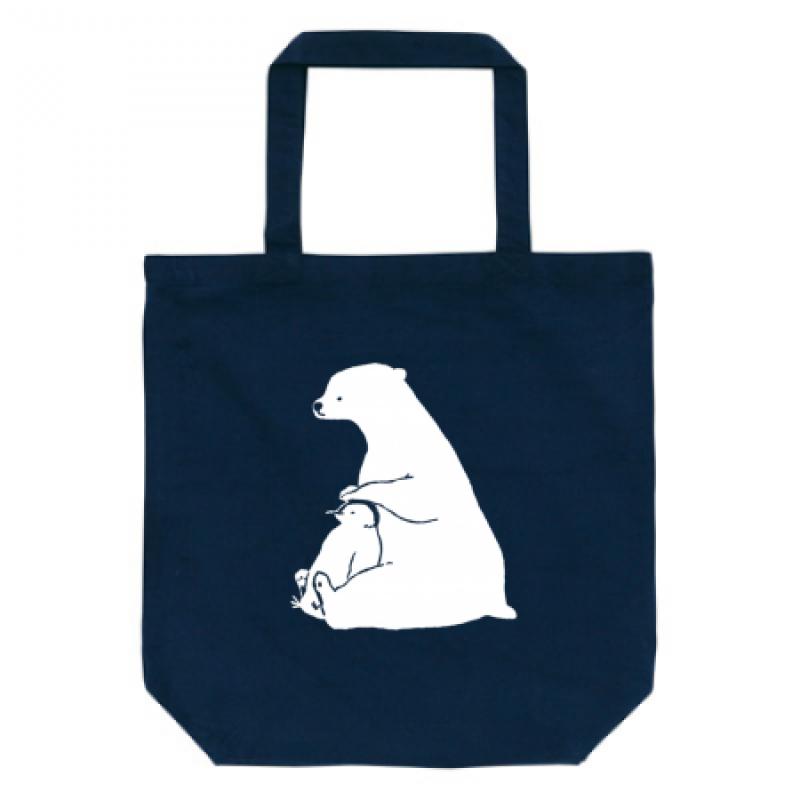 白くまとペンギンのイラストがかわいいトートバッグ