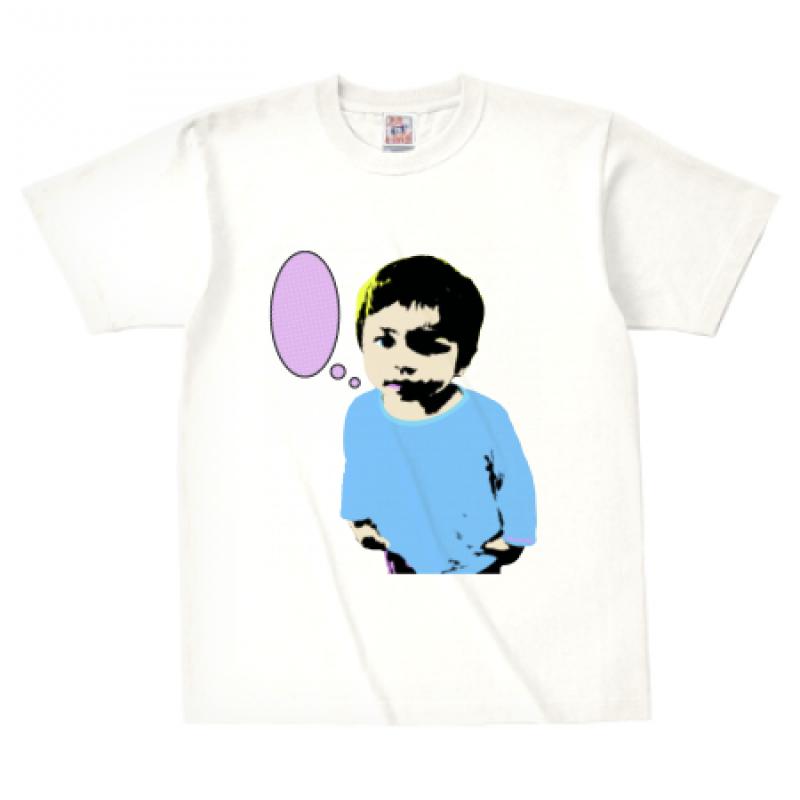 お子さんの写真をおしゃれにプリントしたTシャツ