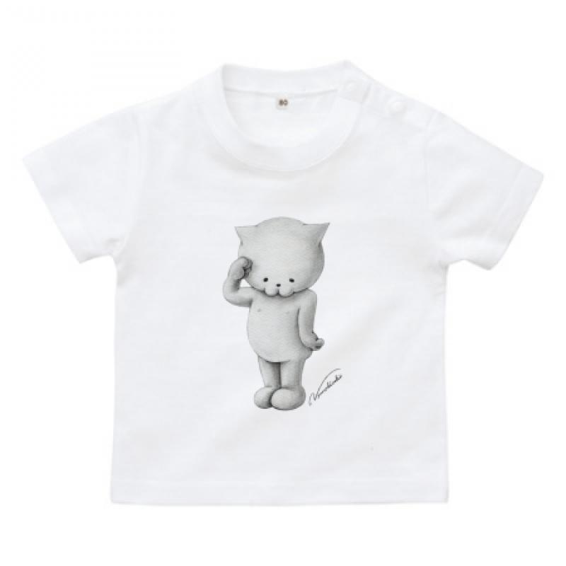 猫イラストが童話のようなオリジナルのベビーTシャツ
