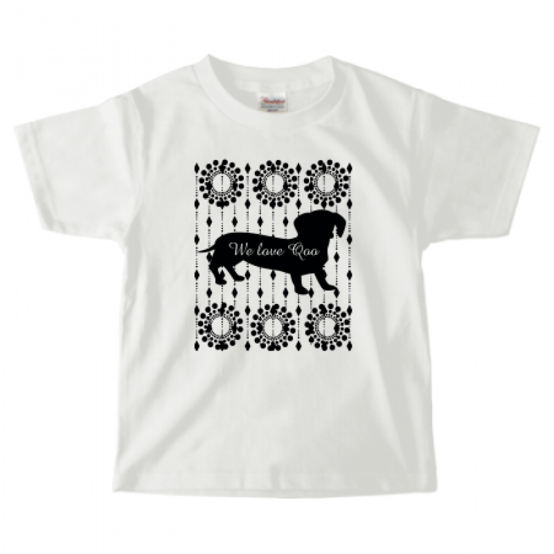 愛犬のシルエットをプリントしたキッズTシャツ