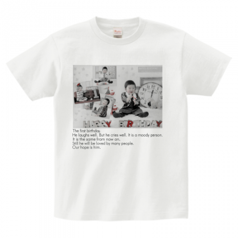 我が子の写真をプリントしたTシャツ