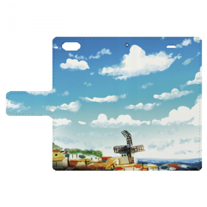 かわいい西洋の風景イラストのスマホケース オリジナルプリントjp