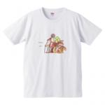 リスの家族が描かれたプリントTシャツ