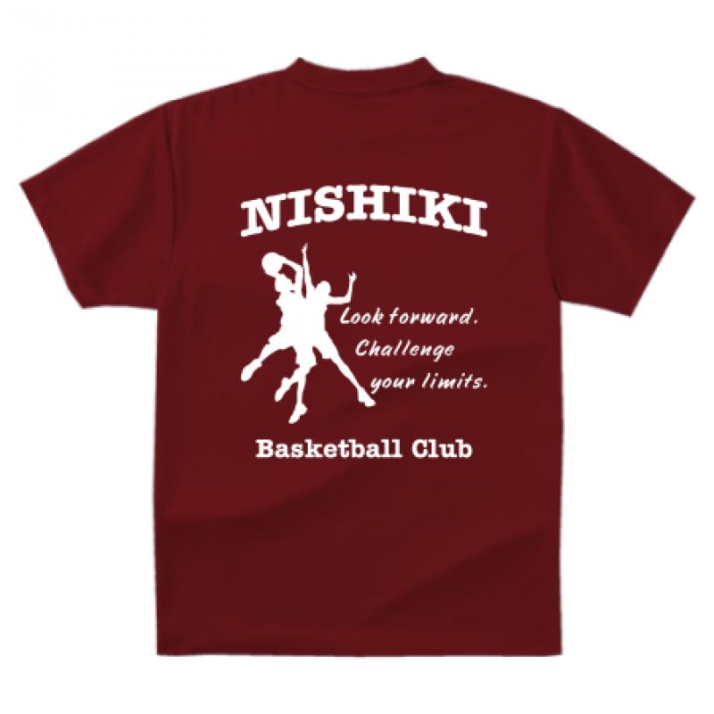 バスケットボールクラブのTシャツ