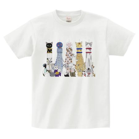 和風猫イラストtシャツ オリジナルプリントjp お客様プリント作品集