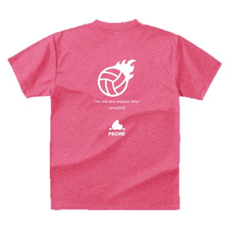 バレーボールチームのイラストプリントTシャツ