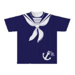 セーラーデザインを全面にプリントしたオリジナルTシャツ