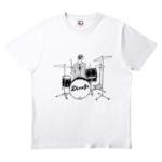 お洒落なドラムイラストのオリジナルTシャツ