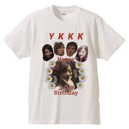 友だちの誕生日に写真をプリントしたオリジナルTシャツを!