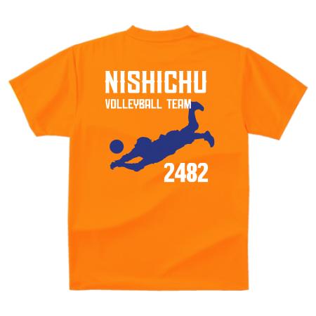 バレーボールチームのオリジナルTシャツ