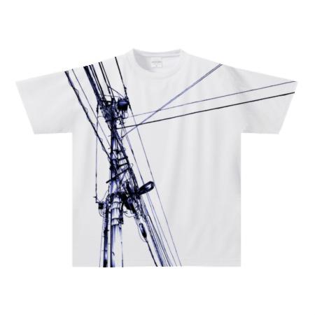 電線をデザインしたお洒落なTシャツ
