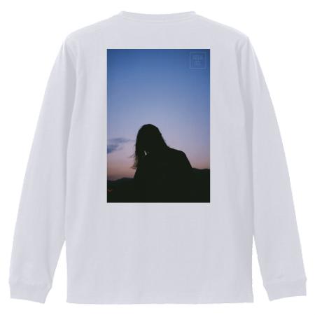 写真プリントの長袖Tシャツ