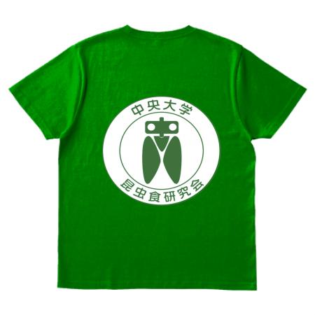 昆虫食研究会のオリジナルTシャツ