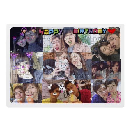 誕生日プレゼントに二人の思い出写真でオリジナルパズル
